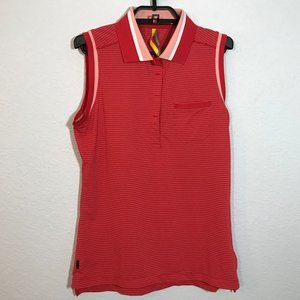 Lole Red/White/Pink Striped Athletic Tank Top